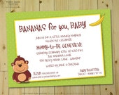 MONKEYING AROUND Invitation - Personalized DIY Printable Monkey Themed Invite