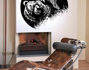 Vinyl Wall Decal Sticker Bear at Night OSAA1558s