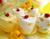 Duck Onesie..Duck Baby Shower..Mommy's Little Duck..Just Ducky Baby..Onesie Cupcake..Duck Baby Gift..Adorable...Quack..Quack :)
