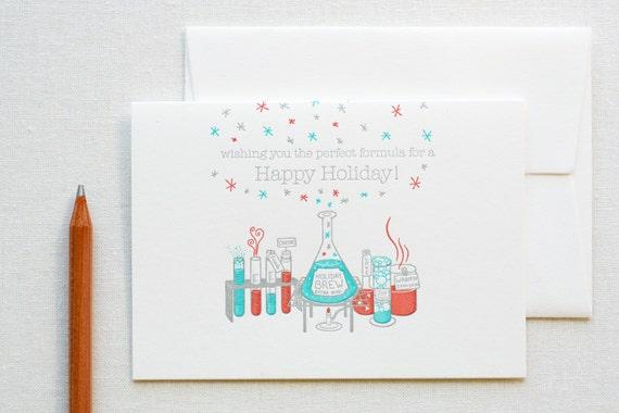 Letterpress Chemistry Holiday Card