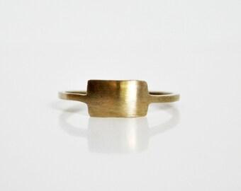 Primitive Bronze Rectangle Ring