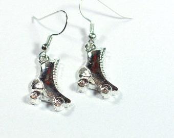 Roller Skate Charm Earrings / Silver Charm Earrings / Roller Skating Earrings / Figure Skate Earrings