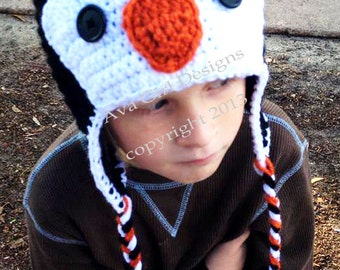 Penguin hat, baby penguin hat, adult penguin hat, child penguin hat