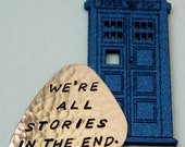 We're All Stories In The End COPPER Guitar Pick DOCTOR WHO Dr Who