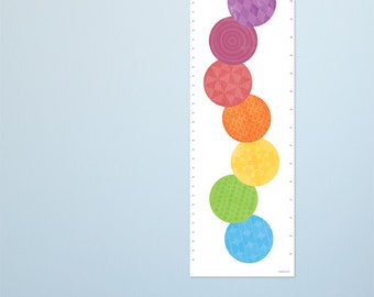 Caterpillar Growth Chart for kids rooms. Kids art decor for a very stylish nursery. Bright & fun contemporary height charts by Erupt Prints