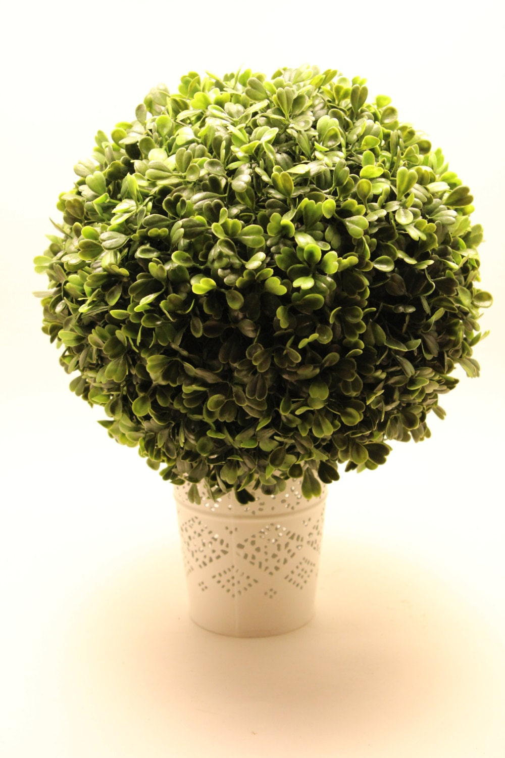 one 6 inch faux boxwood topiary ball pomander long leaf shrub. Black Bedroom Furniture Sets. Home Design Ideas