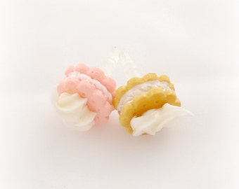 Whipped cream cookie kawaii dust plug for iPhone Smartphone, only brown left