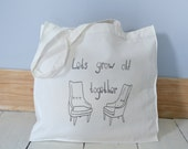 SALE Tote Bag 'Let's Grow Old Together'