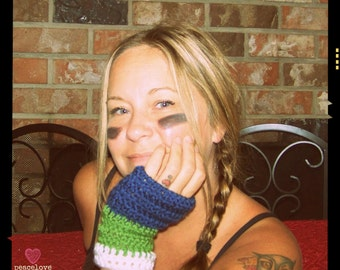 Seattle Seahawks Inspired Arm Warmers~Ready to ship~Free Shipping