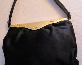 Gold and Black Vintage Evening Bag