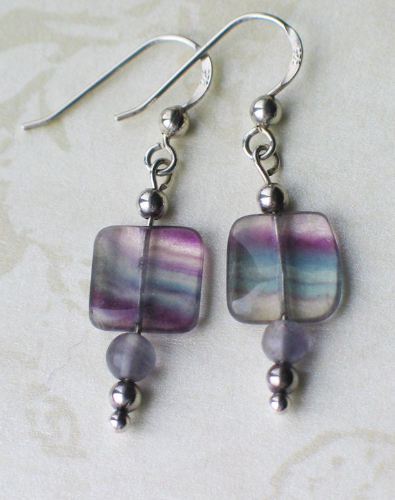 Lena Flourite and Sterling Silver Earrings