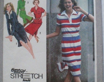 Women's Vintage Sewing Pattern - Pullover T-Shirt Dress or Top and Skirt - Simplicity 9306 - Sizes 6-8-10, Bust 30 1/2 - 32 1/2