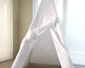 Teepee in Whimsical Style | Mint, white or cream | Child Sized