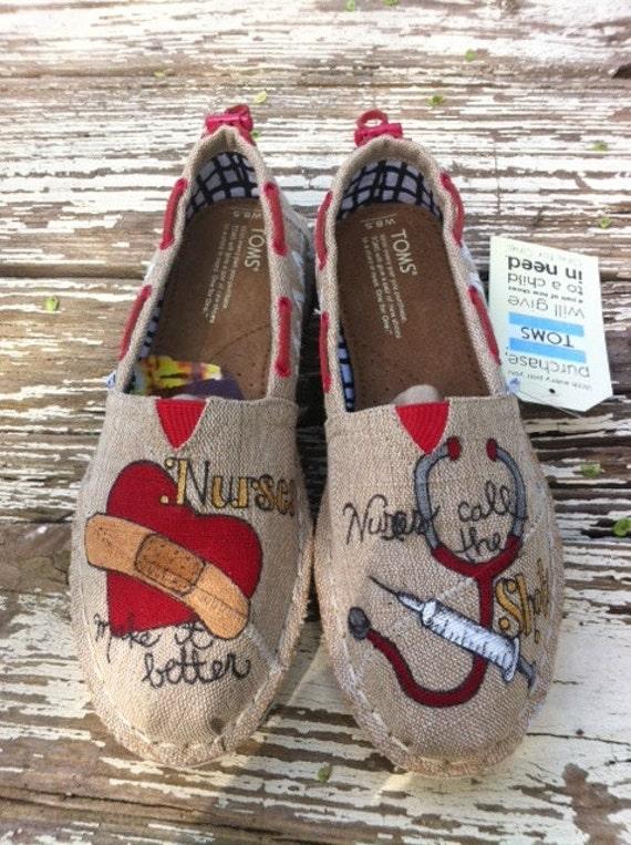 Custom Painted Nursing Shoes
