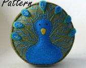 Peacock Pincushion Pattern PDF