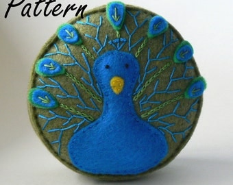Peacock Pincushion Pattern PDF