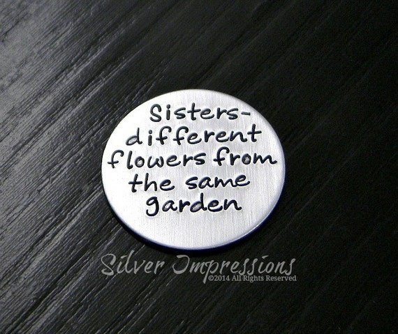 Locket Plate Sisters Different Flowers From The Same Garden