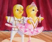 Ballet Print Baby Chicks Dancing 8x10 Ferdinand and Nina Story Art  by Janet Zeh