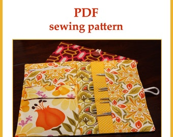 Interchangeable Knitting Needle Case PDF sewing pattern