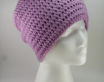 Solid Classic Style Beanie Hat in Orchid - Multiple sizes Made to Order Unisex Men Women Teen Children
