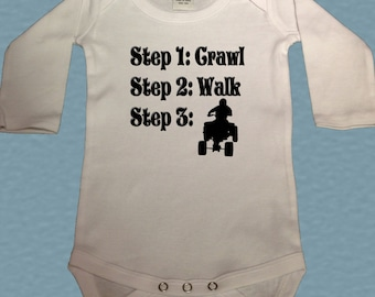 Future ATV rider bodysuit - steps crawl walk quad bodysuit - Atv shirt - future ATV baby Bodysuit - 4 wheeler shirt - baby shower gift