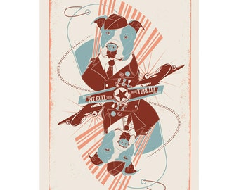 American Pit Bull Terrier Dog Breed Print