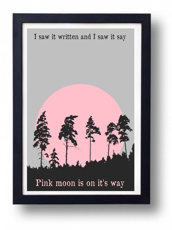 nick drake pink moon wall art poster etsy