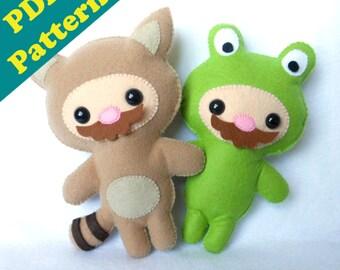 PDF PATTERN -Tanooki & Frogsuit Mario Plush (Digital Download)