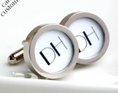 Two Initial Monogrammed Cufflinks 1920s Art Deco Style for Weddings, Anniversaries, Birthdays or Just Because