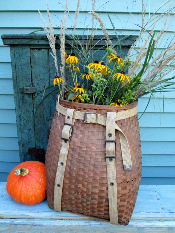 Vintage Adirondack Pack Basket Trapper By Sundriesandsalvage