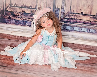 Baby girl dress, birthday dress, Aqua and Ivory Lace Corset Dress, flower girl, Tea Party dress, Photo Shoots, Weddings and Dress up Dates