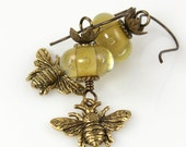 Reserved for Jojie- Queen B Earrings -Artisan Handcrafted Earrings