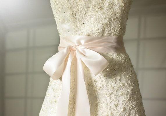Pink Wedding Dress Sash : Bridal sash cameo pink wedding by bridalbouquetsbyky