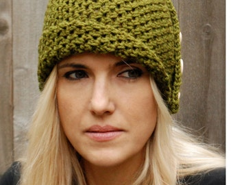 Crochet PATTERN-The Paiyton Cloche' (Toddler, Child, and Adult sizes)