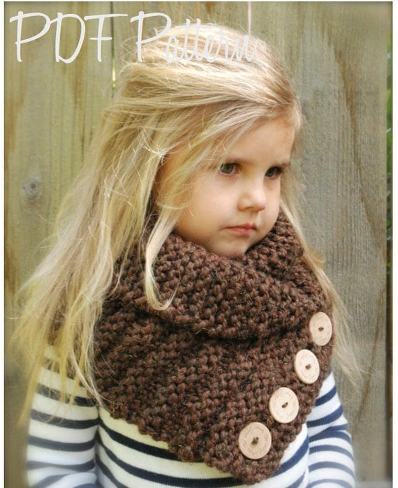Knitted Cowl Pattern For Toddler : KNITTING PATTERN Ruston Cowl Toddler Child Adult sizes