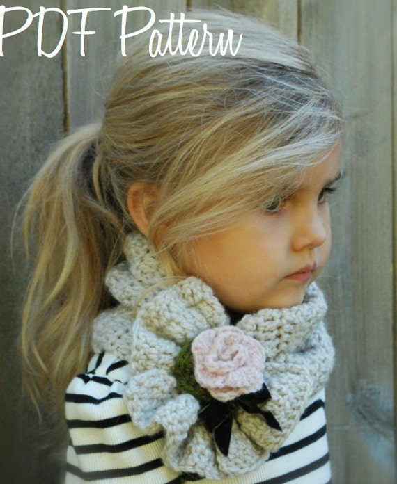 Crochet PATTERN-The Ashby Scarf AdultChild Toddler sizes