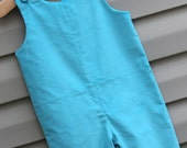 Boys Longall -Turquoise Corduroy --  can be monogrammed with purchase of monogram upgrade