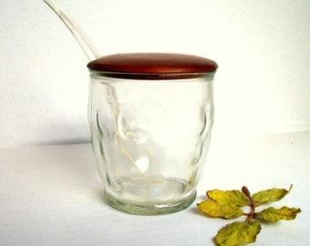 Vintage Mid Century Modern Anchor Hocking Jam Jar