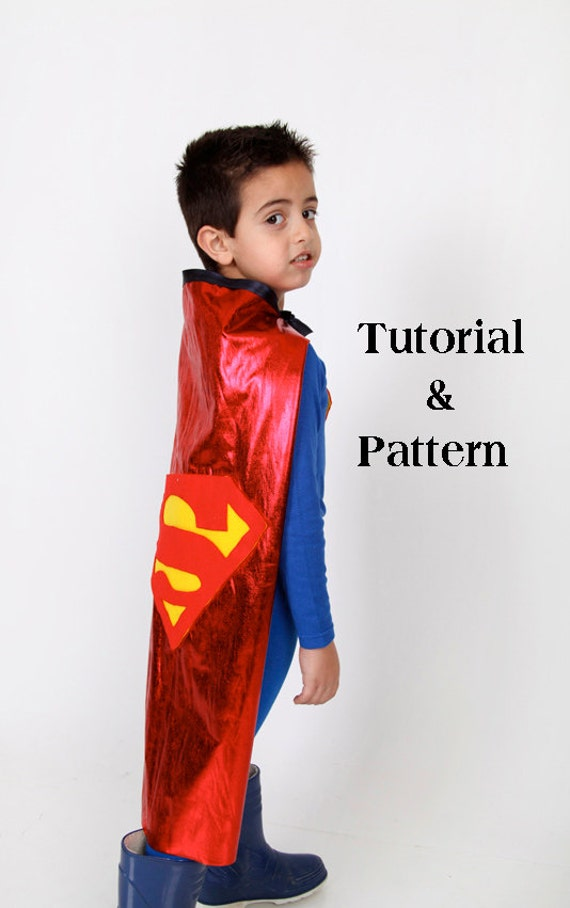 Kids superman costume diy costume kit tutorial and by for Make your own superman shirt