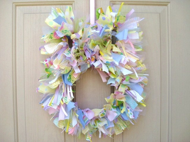 Easter Bunny Wreath Easter Wreath Easter By Aworkofheartsa