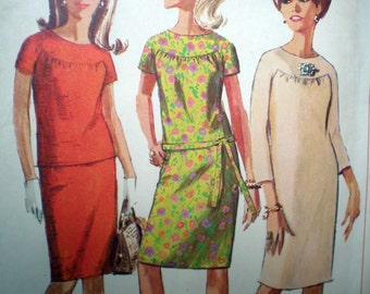 Simplicity 6870 Vintage 1960s Yoked Separates Skirt, Top and Dress Pattern 32 Inch Bust