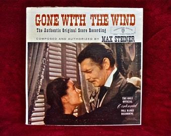 GONE with the WIND - The Authentic Original Score Recording - 1961 Vintage Vinyl Gatefold Record Album