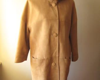 Vintage Sude Coat with Mink Collar