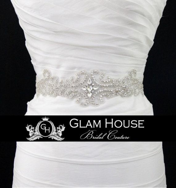 Scroll bridal sash,bridal belt,wedding sash,dress belt,rhinestone belt,bridal accessories,beaded belt,wedding belt,Vintage wedding,sash,prom