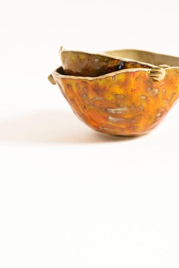 25% sale, stoneware bowl, APPLE BOWL, handmade sculptural ceramic dish, thanksgiving, autumnal, harvest home decor