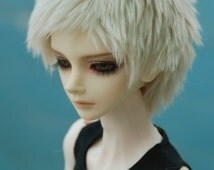 Short Champagne Fake Fur Wig for Volks BJD SD MSD and Other Size Dolls