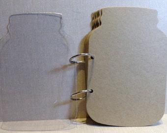 """Mason Jar Acrylic and Chipboard album 7""""H X 4.75""""W"""