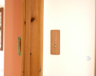 Wood Light Switch Plate - Natural