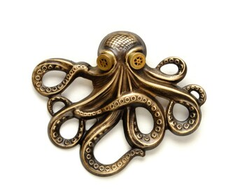 Steam Punk Pin Steampunk Hat Pin Octopus Kraken Cthulhu Pin Steampunk Goggles Pirate Steampunk Jewelry By Victorian Curiosities