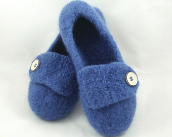 Blueberry Womens Felted Wool Slippers